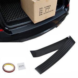 Black JDM Rear Bumper Rubber Pad Kit Guard Sill Plate Trunk Protector Trim Cover