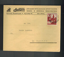 1941 Kielce Poland to Opatow Germany GG cover Spotem Cooperative