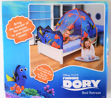 New Disney Finding Dory Nemo Kids 2 in 1 Bed Retreat Play Tent Cubby House