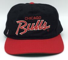 VTG Sports Specialties Chicago Bulls NBA Snapback Hat Script Red Black Dome