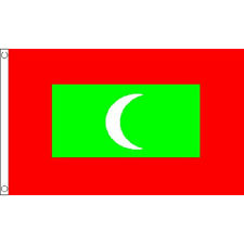 Maldives Flag 5Ft X 3Ft Maldive Islands National Country Banner With Eyelets