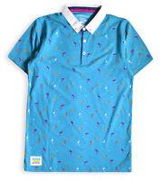 Boys Polo Shirt New Kids Tops Short Sleeved Cotton Rich Printed T-Shirt 3-13 Yrs