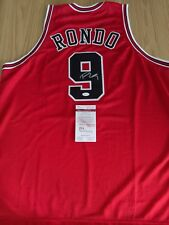 RAJON RONDO - Bulls / LA Lakers Signed Jersey with COA