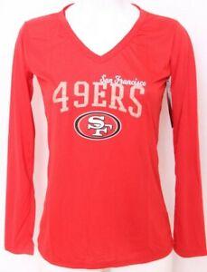 NEW San Francisco 49ers NFL Team Apparel Sleepwear Red LS Shirt Women's M