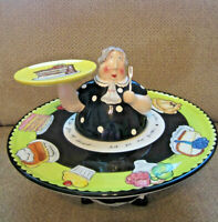 Mud Pie I'd give up desert but I'm no quitter! fat lady pedestal serving tray