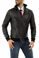 ★Giacca Giubbotto Uomo in di PELLE 100%★ Men Leather Jacket Veste Homme Cuir 36t