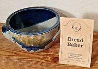 Bread Baker Stoneware Baking Crock Ayers Pottery Bowl Blue Gray Signed 2001 NEW