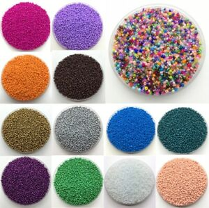 2mm,4mm 1000pcs Seed Beads Spacer Glass Charm Czech Round Jewelry Making Diy