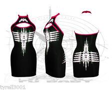 Dane NANOJET Slash Canotta Abito Cyber Goth Clubwear podio Bodycon