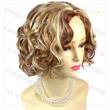 Wiwigs Lovely Short Curly Blonde & Red Mix Summer Style Skin Top Ladies Wig