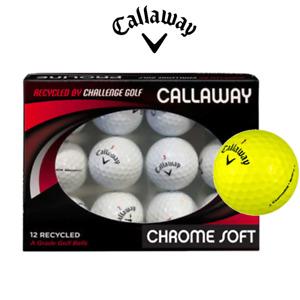 Callaway Chrome Soft GOLF BALLS Recycled GRADE A  White or Yellow (One Dozen)
