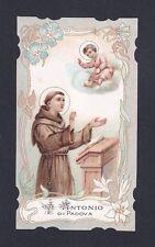 SANT'ANTONIO DI PADOVA 12 SANTINO IMMAGINETTA HOLY CARD IMAGE PIEUSE RELIGIONE