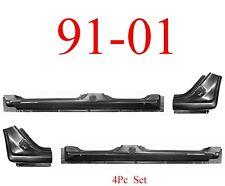 91 01 Ford Explorer 4Pc Extended Rocker & Dog Leg Kit 4 Door OEM Type