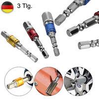 """65mm 1//4/"""" 1//4inch 6mm-15mm Steckschlüssel Stecknuss Sechskant Magnetische Nuss"""
