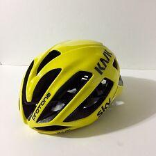 KASK PROTONE Aero Road Bike Helmet Black Yellow Sz. Large (Excellent)