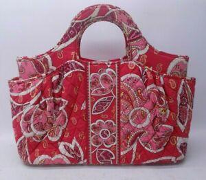 Vera Bradley Handbag Rosy Posies Red and Pink Purse Satchel 2 Handle