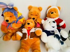Winnie the Pooh  plush Lot Of 5 Easter,valentine,Christmas