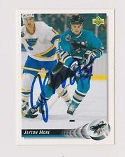 92/93 Upper Deck Jayson Moore San Jose Sharks Autographed Hockey Card
