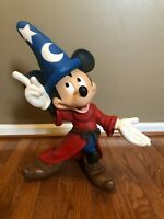 "Disney Fantasia Sorcerer 22"" Resin Mickey Mouse Statue"