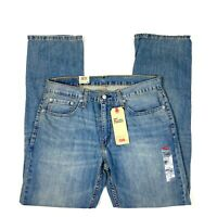 Levi's mens 559 relaxed fit straight blue jean NEW size 34 waist 34 in distress