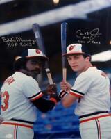 Cal Ripken Jr Eddie Murray Autographed Orioles 16x20 Photo With HOF- JSA Auth