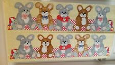 Large Bunnies Draught Excluder or Cot Bumper Quilting Panel – 60cm x 110cm
