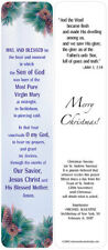 "48 Christmas Nativity ""Hail and Blessed"" Beautiful Prayer Bookmarks"