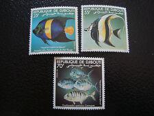 DJIBOUTI - timbre - yvert et tellier n° 527 a 529 nsg (A7) stamp