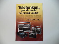 advertising Pubblicità 1977 TELEFUNKEN RADIO BAJAZZO/PARTNER 500/200