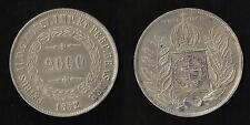 Brésil : 2000 Reis 1852 Argent