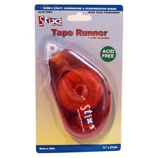 Cinta Runner 8 Mm X 25 permanente Pegamento Tiras De Doble Cara Recargable stix2 s57269