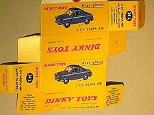 REPLIQUE  BOITE VESPA 400 : DINKY TOYS 1958