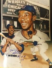 Ernie Banks Chicago Cubs Inscribed MR CUB HOF 77 Autographed Photo MLB Baseball
