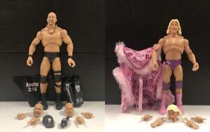 WWE Mattel Steve Austin & Ric Flair Ultimate Edition Series #9 figures loose