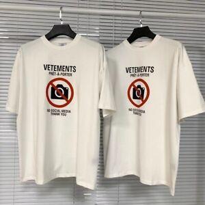 VETEMENTS  VTM Classic Logo Minimalist Letter Print Short-sleeved T-shirt