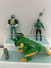 Power Rangers Dino Charge Green Raptor Figures Charger Lot 4