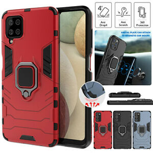 For Samsung A12 A42 A11 A21S A31 A51 A71 Case Armor Rugged Hybrid  Ring Cover