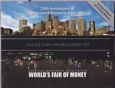 ** 2010 Australian Boston World Money Fair coin set  **