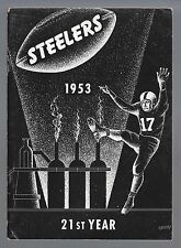 1953 NFL PITTSBURGH STEELERS PRESS / MEDIA GUIDE - 21ST SEASON