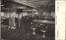 Steamship SS Essex Social Room c1910 Postcard