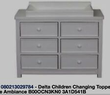 Delta Children Changing Topper White Ambiance #0550-108-Limited Supply-Ship N 24