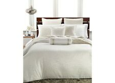 New Hotel Collection Woven Texture Ivory Queen Duvet Cover & Shams Set 3pc