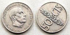 Variante-Estado Español 50 centimos 1966*19-68. MBC/VF. Girada segun foto. Rara