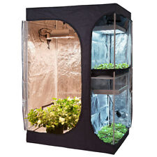 60''x48''x80'' 2-in-1 High Reflective Propagation Flower Grow Tent Indoor Plant