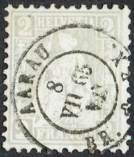 Switzerland 1862 SG 52 2c Grey AARAU CDS Superb Used