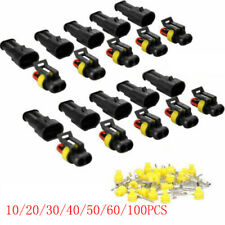 2 200pc 2 Pin Car Waterproof Male Female Two Way Electrical Connector Plug Wire