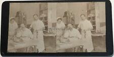 Médecins Cabinet médical Photographie Stereo Vintage