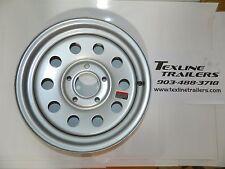 15x5 15 x 5 Silver Mod Modular Rim 5 on 4.5 Cargo Boat Utility Trailer Wheel TX