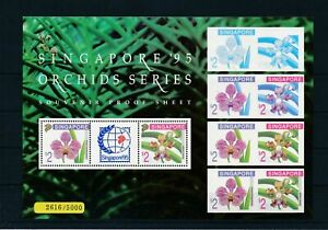 [G11217] Singapore 1995 Orchids good sheet very fine MNH with number val $325