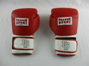 Paffen Sport FIT Boxhandschuhe in rot/weiß, 14 Oz